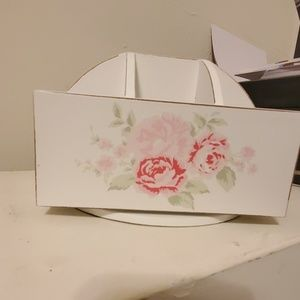Shabby Chic Makeup holder or Desk organizer
